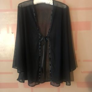 Tops - Black cover up for any occassion